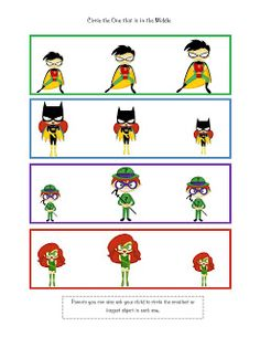 Preschool Printables: superheroes