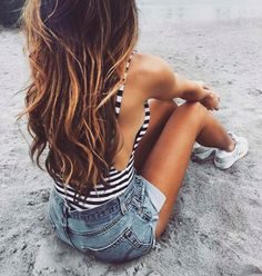 Trendy HairStyles Ideas : This is amazing. when i see all these cute hair styles it always makes me jealous i wish i could do something like that Summer Outfits, Cute Outfits, Foto Casual, Trendy Hairstyles, Daily Hairstyles, Summer Wardrobe, Summer Looks, Hair Inspiration, Hair Beauty