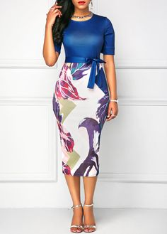 """Buy now! this fancy """"Bowknot Embellished Short Sleeve Sheath Dresses"""" at Reasonable Price + Get big DISCOUNT! Women's Fashion Dresses, Sexy Dresses, Casual Dresses, Short Sleeve Dresses, Sheath Dresses, Fashion Clothes, Beautiful Dresses, Prom Dresses, Robe Bodycon"""