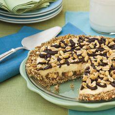 Recipes: Candy Bar Pie   SouthernLiving.com   #Chocolate