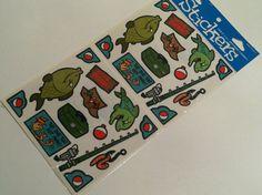 Fishing Themed detash Stickers  1 large by IdleHandsYarnSupply, $1.75