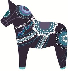 midnight dala horse | Flickr - Photo Sharing! (Scandinavian)
