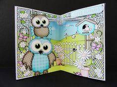 Card Gallery - 3D Little Hoot Owls Scene it Card Kit