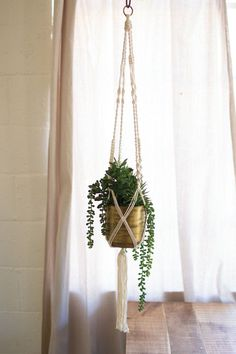 macrame and copper plant hanger #LGLimitlessDesign #Contest