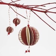 A Hanging Decoration made from Punched-Out Paper Circles