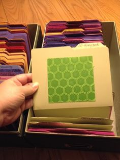 Embossing Folder Storage Using the Large Die Box- using the envelope punch board