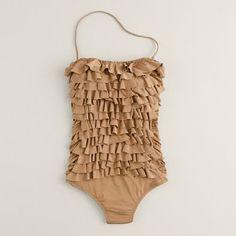 love the ruffles on this J.Crew swim suit.