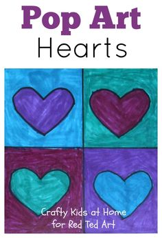 Pop Art Hearts - an