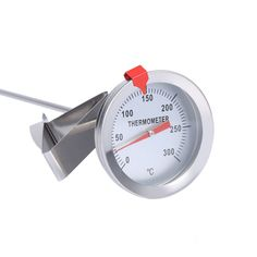 """12"""" Long Stainless Steel Cooking Oven BBQ Probe Thermometer with Clip for Food Meat Homebrew Wine Kettle Food Meat Gauge"""