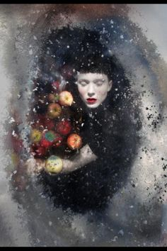 Snow white in the frozen lake by darla Teagarden 2013