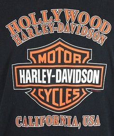 Harley Davidson Hollywood Ca Shirt X