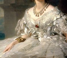 Detail from Portrait of Princess Tatyana Alexandrovna Yusupova (1858) by Franz Xaver Winterhalter