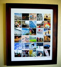 Collage to display tons of photos in one frame... website has lots of photo ideas