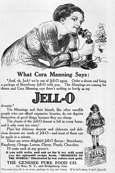 1912 Jell-O Ad - I absolutely loved visiting the  Jello Museum in LeRoy NY