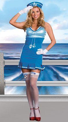 Sexy Nautical Cutie Sailor Dress Costume Adult