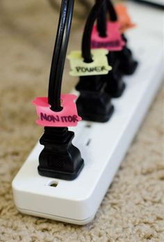 Bread Tag Cord Organizing