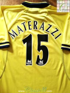 1998 99 Everton 3rd Premier League Football Shirt Materazzi  15 (XL) 0f9a3cf38