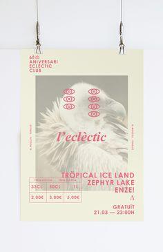6è aniversari   eclèctic club by Ingrid Picanyol, via Behance