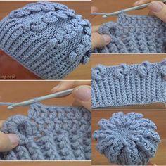 Crochet hats 491596115576906945 - Tutos de Bonnets au Crochet Source by Crochet Beret Pattern, Crochet Hooded Scarf, Bonnet Crochet, Crochet Beanie Hat, Crochet Gloves, Crochet Scarves, Beanie Pattern, Crochet Crocodile Stitch, Crochet Waffle Stitch