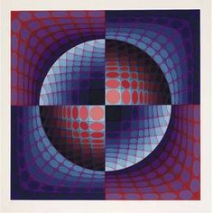 2. Vasarely, Victor. Relat (from Vi-Va). 1937. Colour Screenprint on Paper