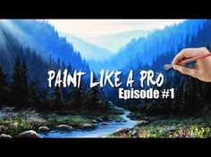 Painting A Realistic Landscape with Acrylics | Paint Like A Pro: Episode #1 - YouTube