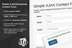 Simple AJAX Bootstrap Contact Form. Bootstrap Themes. $6.00