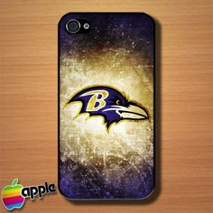 Baltimore Ravens NFL Logo Custom iPhone 4 or 4S Case Cover