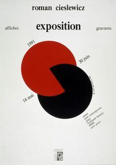 Roman Cieslewicz (1930 - 1996) -  Exposition affiches gravures - 1991 - Impression offset sur papier glacé - 60 x 42 cm - Inscriptions : R. Cieslewicz et cachet en bas à droite - Commande du Centre d'art contemporain de Saint-Priest - Affiche d'exposition - Achat, 1991 © Jean-Claude Planchet - Centre Pompidou, MNAM-CCI (diffusion RMN) © Adagp, Paris _ #Poster #Affiche #GraphicDesign