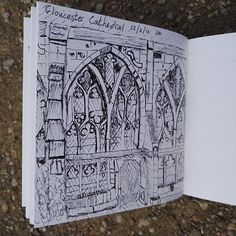 Sketching in my local cathedral listening to the adult Aled Jones singing carols