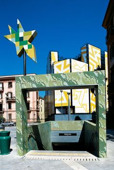 Metro Materdei, Naples, Italy - Custom Design #trend #green #mosaic # vitreo #metro