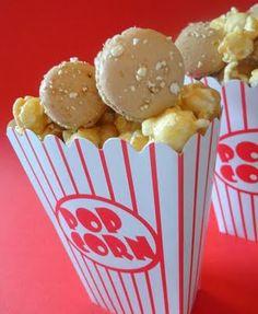 Toffee Popcorn Macarons