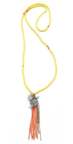 Chan Luu Tassel Charm Necklace | SHOPBOP Mobile Site