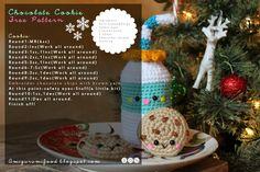 Free pattern Chocolate Cookie #crochet