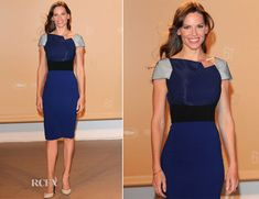 Hilary Swank In Roland Mouret - Agora Dinner - Red Carpet Fashion Awards