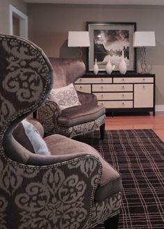 Elegant Ethan Allen Wingback Chair