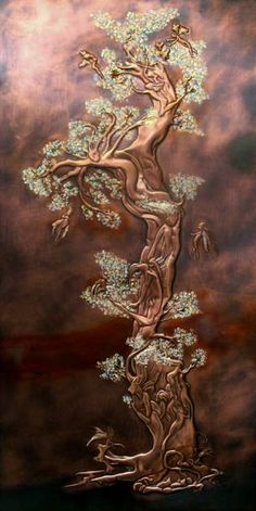 Copper Art  Faerie tree.