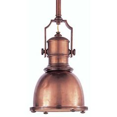 Pair of Early Spun Copper and Cast Brass Mini Spot Lights