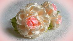 В этом уроке, я покажу: как сделать несложные, но воздушные розы канзаши. Цветочки можно использовать на заколочки, ободочки и повязочки.