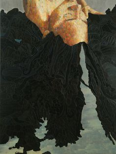 """Flowback, Oil on Canvas, 68""""X51"""" 2008 (Private Collection) - Mequitta Ahuja"""