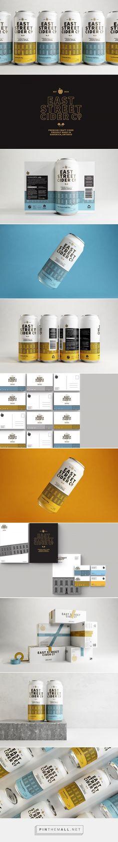 East Street Cider Co. packaging design by makebardo - https://www.packagingoftheworld.com/2018/06/east-street-cider-co.html