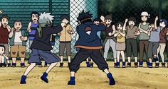 It seems like Kakashi has always favored using his feet instead of punching..maybe thats so his hand would be free to use ninjutsu, already preparing himself for the future!! AGH MY BAE!!