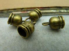20pcs 9x13mm7mm Antique Bronze Ribbon Crimp End Caps by eric8429, $2.59