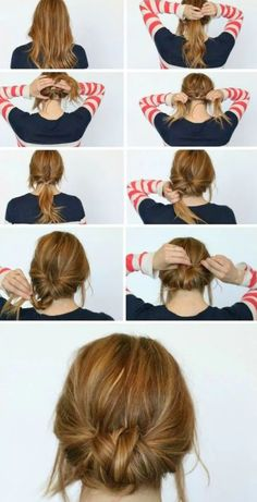 If you can handle a bit of twisting and pinning, you can do this hairstyle yourself, no problem.