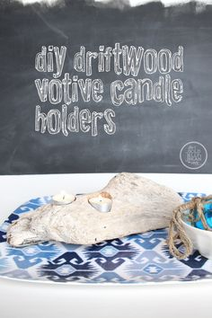 DIY Driftwood Candle Holders
