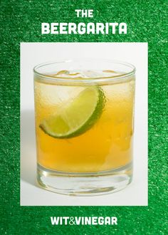 The perfect super bowl cocktail–The Beergarita
