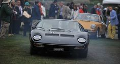Even if the mist was thick enough to rival the Nürburgring, the scenes at the 2013 Pebble Beach Concours d'Elegance were simply breathtaking. Cathy Dubuisson visited the Concours on Sunday morning to capture the sights with her camera. Lamborghini Miura, Volkswagen Group, Pebble Beach Concours, Concours D Elegance, Golden Age, Mists, Audi, Wheels, Icons