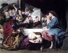 Mary Anointing Jesus' Feet ~ Rubins  Monday in Holy Week