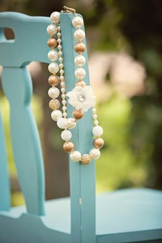 Ryleigh Rue Clothing by MVB - Girls Gold and Ivory Bubble Necklace, $18.00 (http://www.ryleighrueclothing.com/fall/girls-gold-and-ivory-bubble-necklace.html)