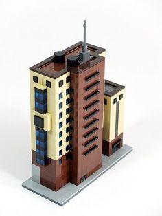 Cheonggye-eleven building | bigcrown85 | Flickr Micro Lego, Lego System, Lego Modular, Lego Construction, Cool Lego Creations, Star Wars Boba Fett, Lego Projects, Lego Moc, Lego Building