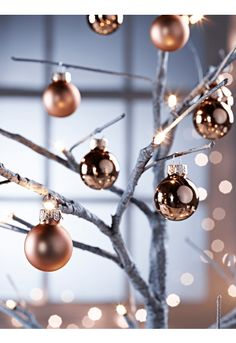 Mini Baubles - Copper - Tree Decorations - Christmas